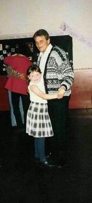 Mesothelioma survivor Megan dancing as a child