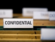 File folder with confidential label