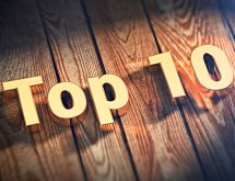 Word Top 10 on wood planks
