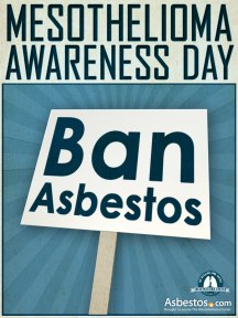 Mesothelioma Awareness Day 2012 Virtual March - Ban Asbestos Sign