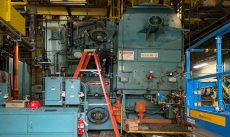 MTA East New York bus depot boiler room
