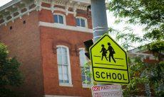 School crossing sign in Philadelphia