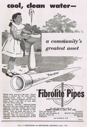 Fibrolite water pipes