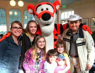 Mesothelioma survivor Frank S. at Walt Disney World