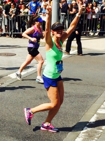 Melanie Cruse running Boston Marathon