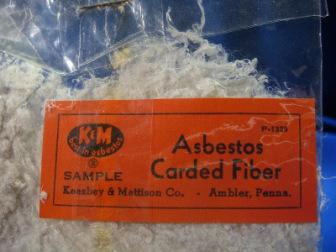close up image of asbestos carded fiber