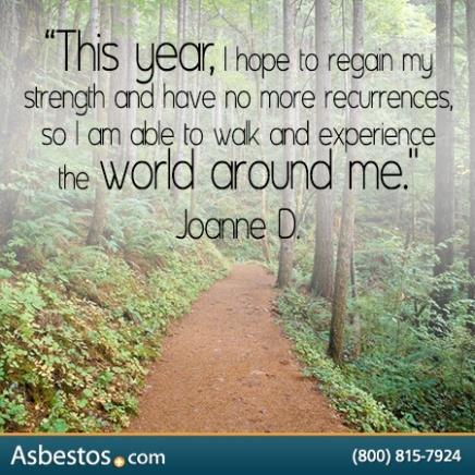 Mesothelioma Survivor Joanne D. Survivor Quote