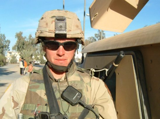 U.S. Army Capt. Aaron Munz in fatigues