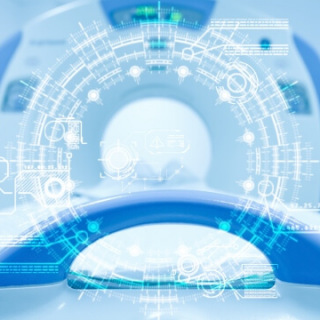 Artificial Intelligence overly of CT scanner