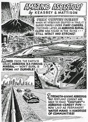 Asbestos Volcano Cartoon