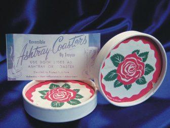 Asbestos flowered coasters