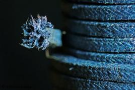 Blue Asbestos Valve Insulation