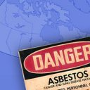 Danger Asbestos over Canada map