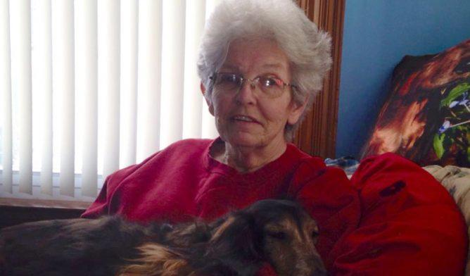Mesothelioma survivor Emily Ward and her dog Little Bit