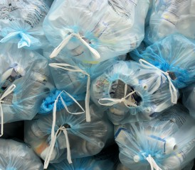 Garbage bags filled with trash