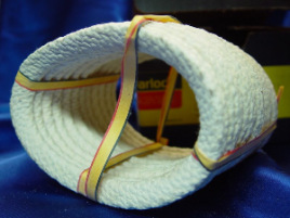 Oval asbestos gaskets ties with ribbon