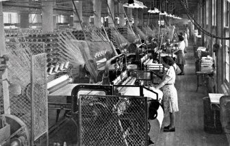 Vintage photo of textile workers
