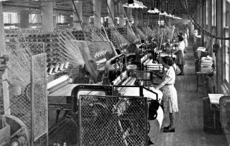 Vintage photo of textile weavers