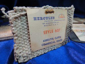 Hercules asbestos cloth sample