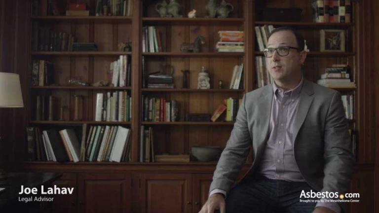 Video thumbnail of Joe Lahav on mesothelioma litigation
