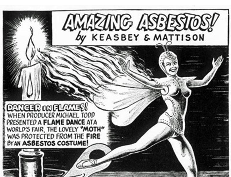 Vintage Asbestos Cartoons vs. Actual Facts