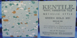 Kentile green and gold floor tile