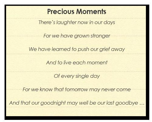 Poem by Lorraine Kember