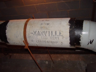 White pipe with Manville name