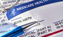 Medicare card with pen