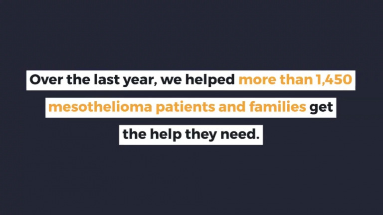 Video sharing a list of ways The Mesothelioma Center is helping those in the mesothelioma community.