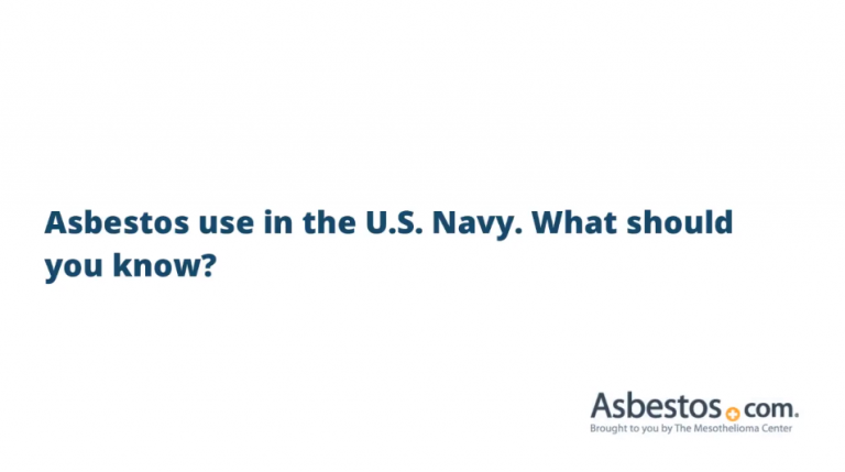 Asbestos use in the Navy video