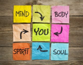 Holistic wellbeing sticky notes