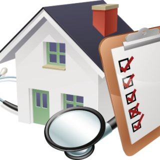 House with stethoscope and checklist
