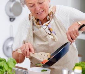 Lady Making a Meal
