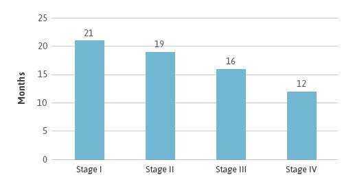 Survival By Mesothelioma Stage Diagram