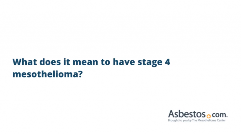 Stage 4 mesothelioma video overview