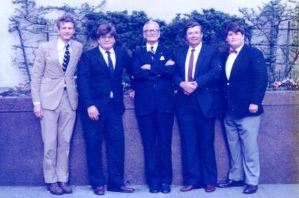Portrait of the Sugarbaker family circa 1975