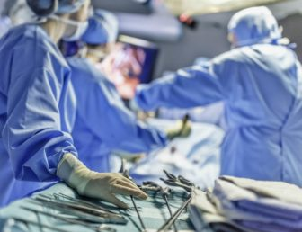 Surgeons in operating room