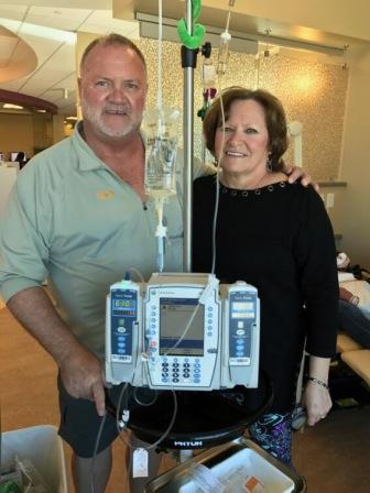 Mesothelioma survivor Doug Jackson with wife Cindy