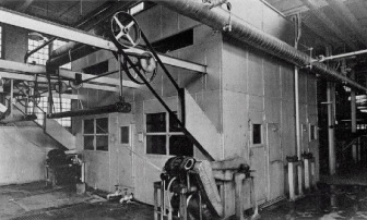Vintage photo of a textile mill dryer