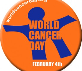Badge of World Cancer Day