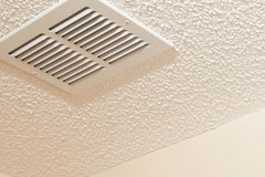 Ceiling air vent and popcorn ceiling