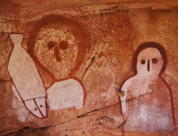 Aboriginal cave artwork