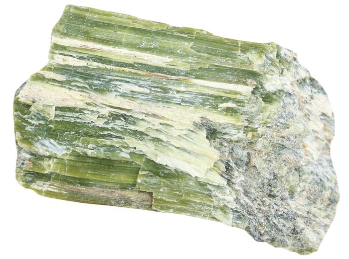 Sample of actinolite asbestos
