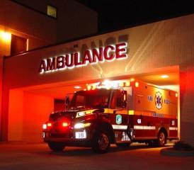 Ambulance Leaving Hospital