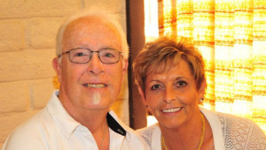 Andy Ashcraft, stage 4 pleural mesothelioma survivor, with his wife Ruth