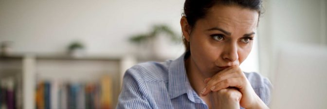 Woman appearing to be anxious