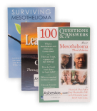 Three books on mesothelioma: Surviving Mesothelioma, Lean on Me and 100 Questions and Answers About Mesothelioma