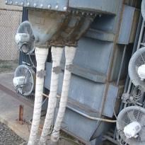 Asbestos cable wrap