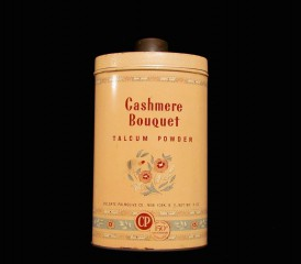 Can of Cashmere Bouquet talcum power